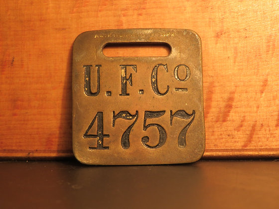 UFCO Brass Luggage Tag 4757