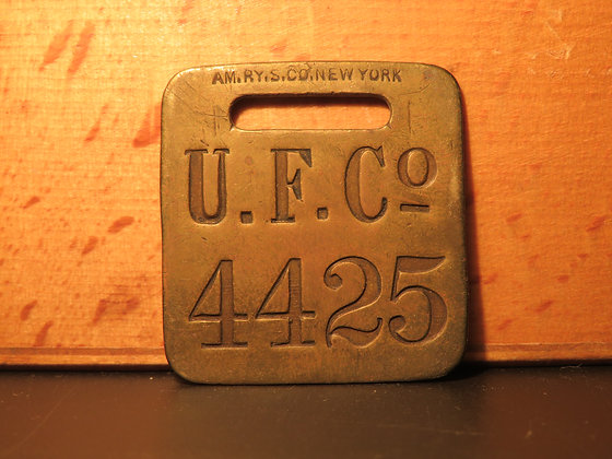 UFCO Brass Luggage Tag 4425