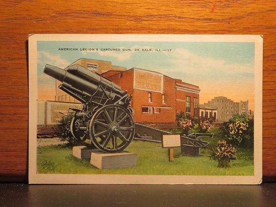 American Legion's Captured Gun, De Kalb, Illinois