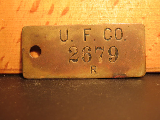 UFCO Brass Inventory Tag 2679