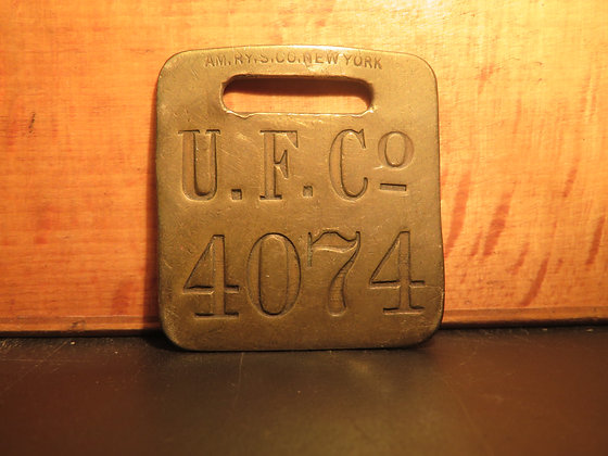 UFCO Brass Luggage Tag 4074