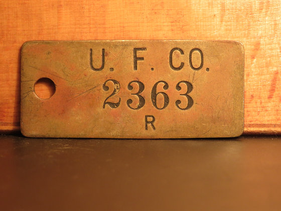 UFCO Brass Inventory Tag 2363