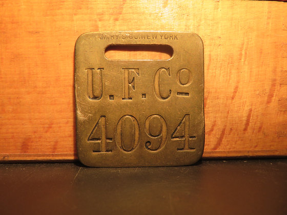 UFCO Brass Luggage Tag 4094