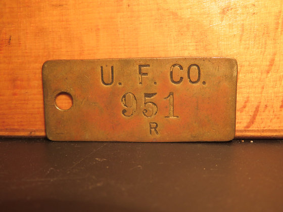 UFCO Brass Inventory Tag 951