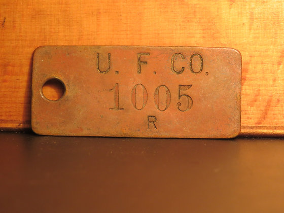 UFCO Brass Inventory Tag 1005