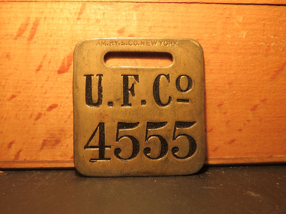 UFCO Brass Luggage Tag 4555