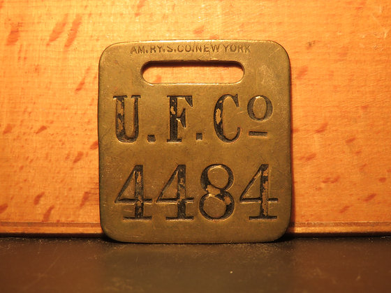 UFCO Brass Luggage Tag 4484