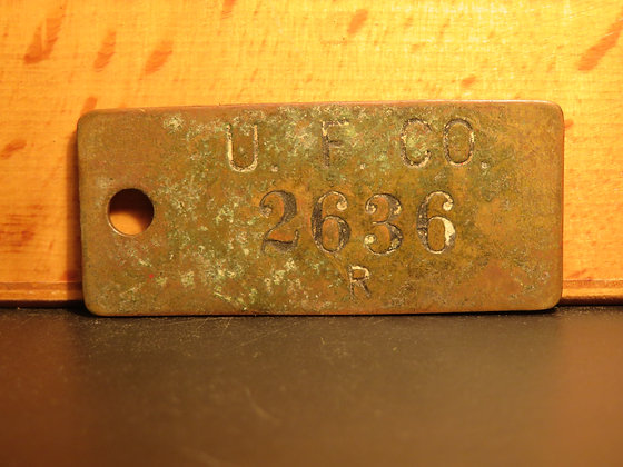 UFCO Brass Inventory Tag 2636