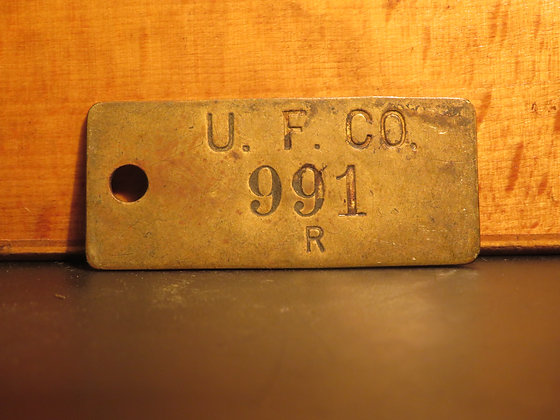 UFCO Brass Inventory Tag E991