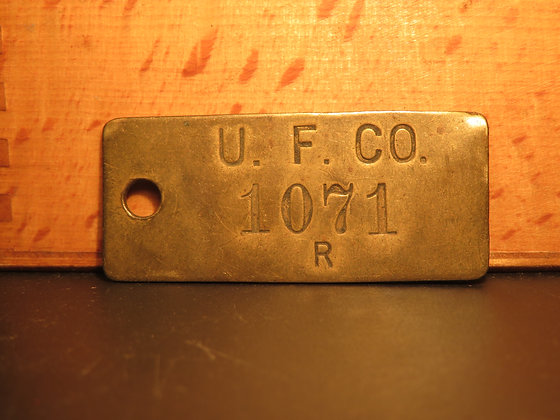 Brass Inventory Tag 1071
