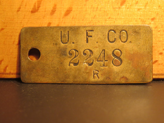 UFCO Brass Inventory Tag 2248