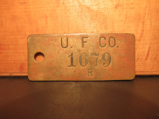 UFCO Brass Inventory Tag 1679