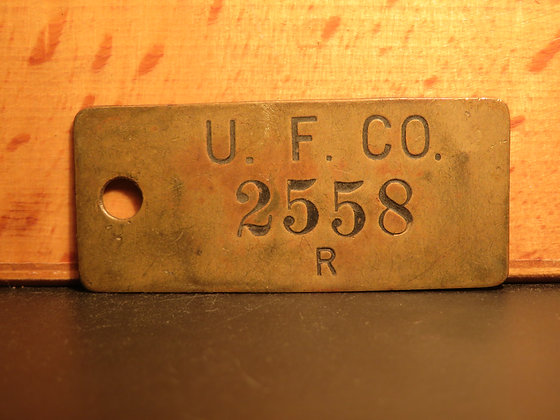 UFCO Brass Inventory Tag 2558