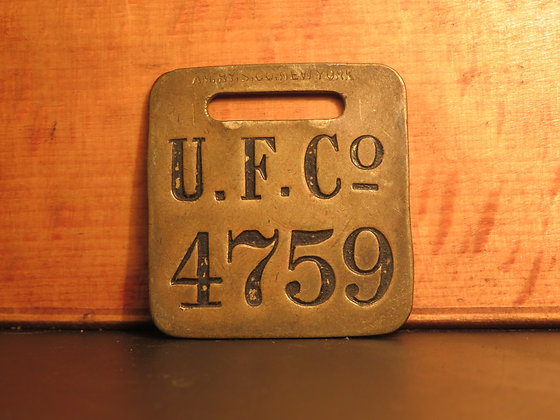UFCO Brass Luggage Tag 4759