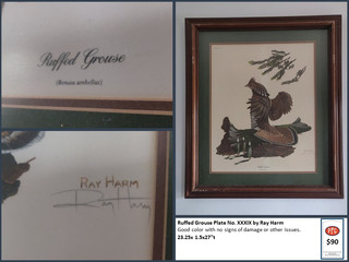 Ruffed Grouse Plate No. XXXIX by Ray Harm $90