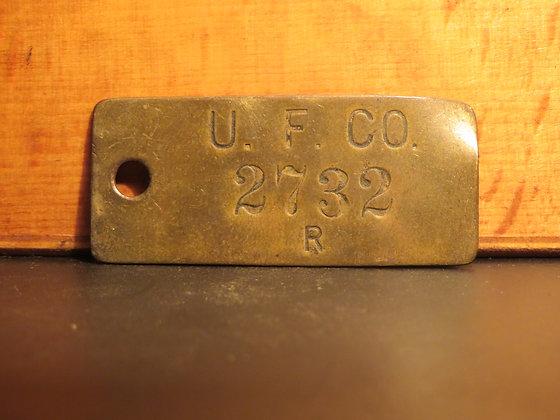 copy of UFCO Brass Inventory Tag E2732