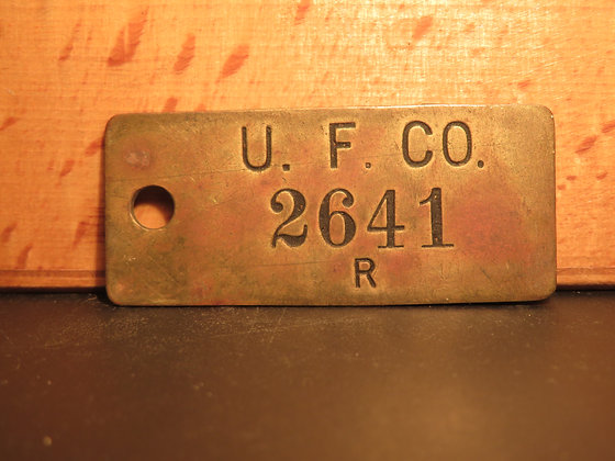 UFCO Brass Inventory Tag 2641