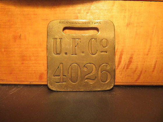 UFCO Brass Luggage Tag 4026