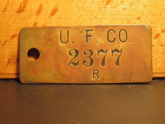 UFCO Brass Inventory Tag 2377