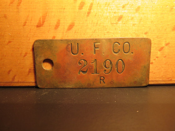 UFCO Brass Inventory Tag 2190