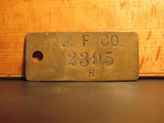 UFCO Brass Inventory Tag E2305