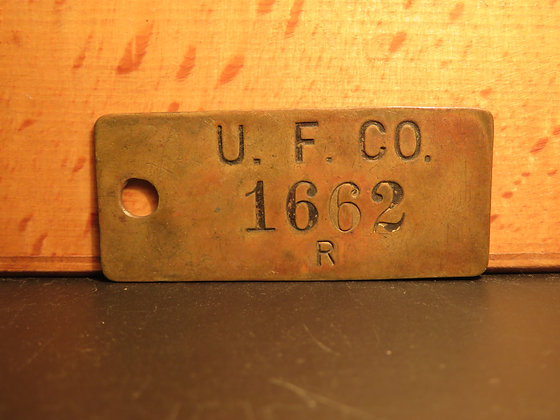 UFCO Brass Inventory Tag1662