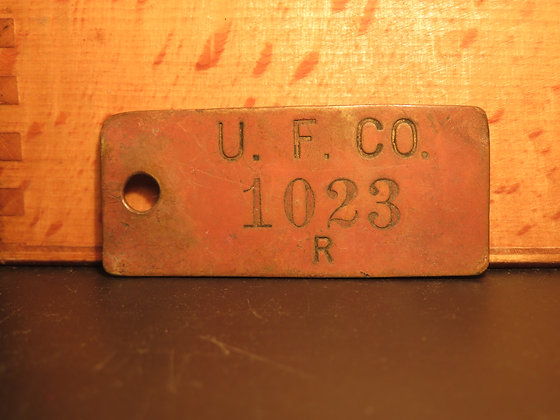 Brass Inventory Tag 1023