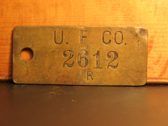 UFCO Brass Inventory Tag 2612