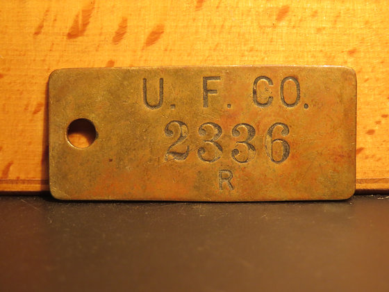 UFCO Brass Inventory Tag 2336