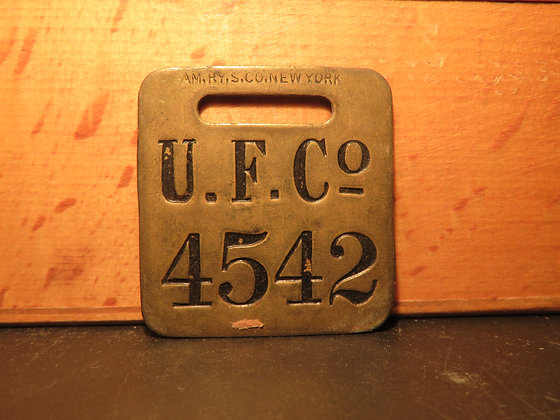 UFCO Brass Luggage Tag 4542