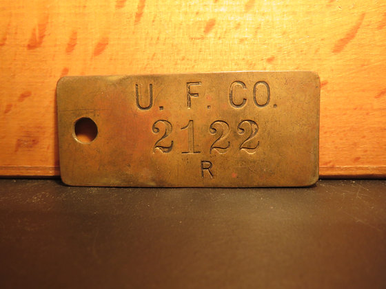 UFCO Brass Inventory Tag 2122