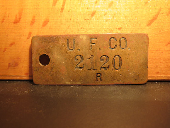 UFCO Brass Inventory Tag 2120