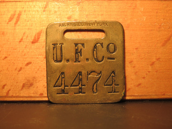 UFCO Brass Luggage Tag 4474