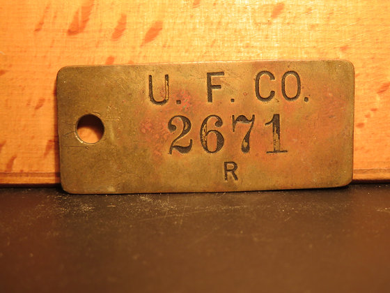 UFCO Brass Inventory Tag 2671