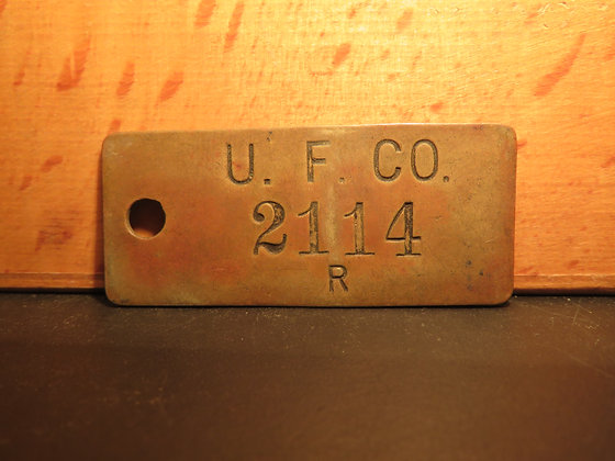 UFCO Brass Inventory Tag 2114