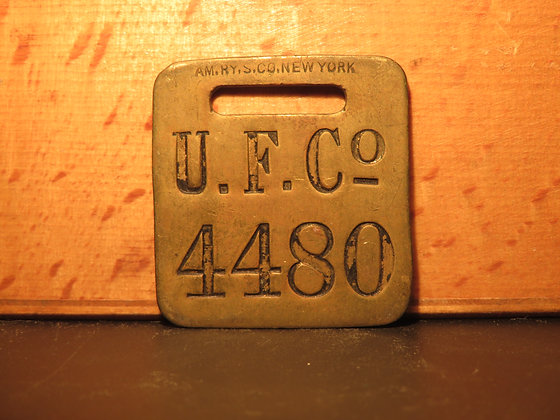 UFCO Brass Luggage Tag 4480