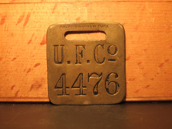 UFCO Brass Luggage Tag 4476