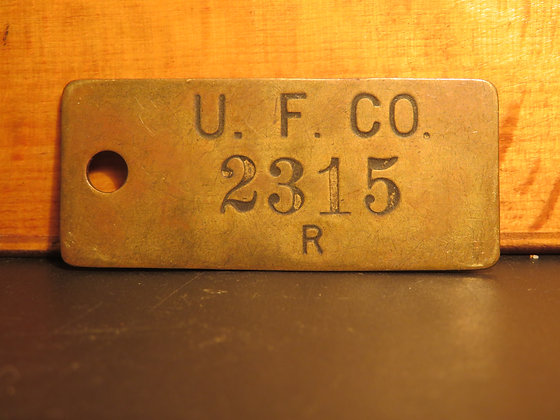 UFCO Brass Inventory Tag 2315