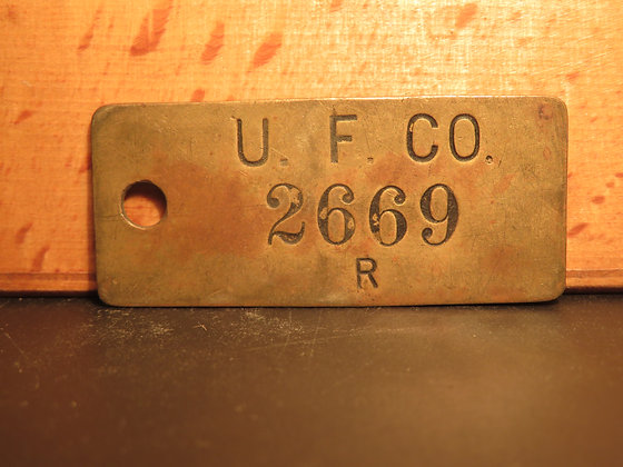 UFCO Brass Inventory Tag 2669