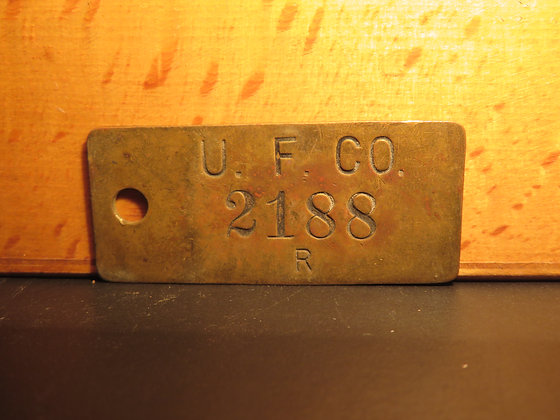 UFCO Brass Inventory Tag 2188