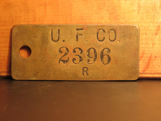 UFCO Brass Inventory Tag 2396