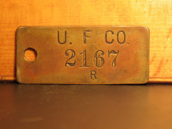 UFCO Brass Inventory Tag 2167