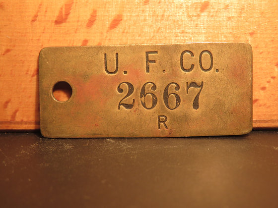UFCO Brass Inventory Tag 2667