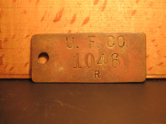 Brass Inventory Tag 1046