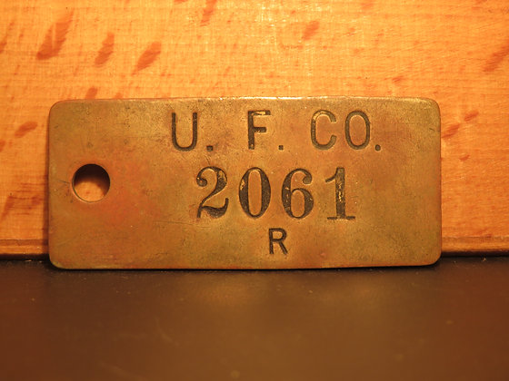 UFCO Brass Inventory Tag  2061