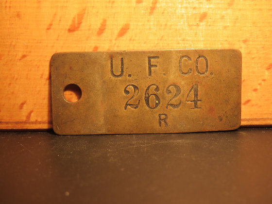 UFCO Brass Inventory Tag 2624