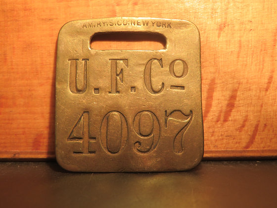 UFCO Brass Luggage Tag 4097