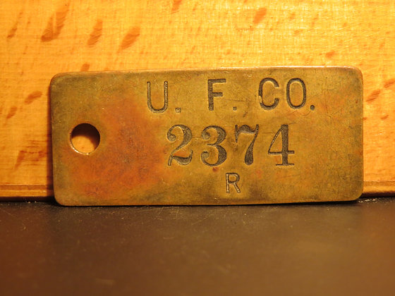 UFCO Brass Inventory Tag 2374