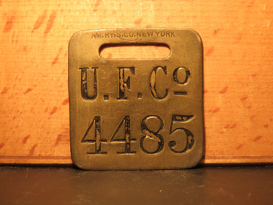 UFCO Brass Luggage Tag 4485