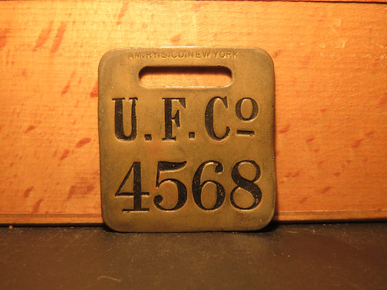 UFCO Brass Luggage Tag 4568